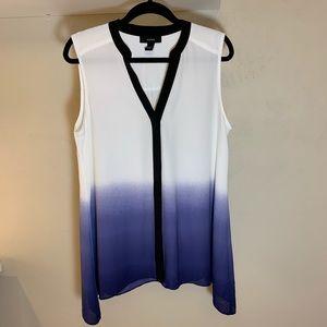 Alfani Violet Ombré Button Down Sleeveless Tunic